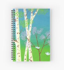 Trees In Bloom Spiral Notebook