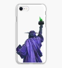 statue of liberty purple iPhone Case/Skin