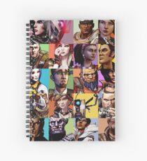 Borderlands Character Collage Spiral Notebook