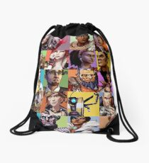 Borderlands Character Collage Drawstring Bag