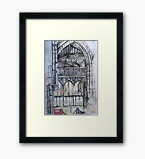 Inside Leicester Cathedral  Framed Print