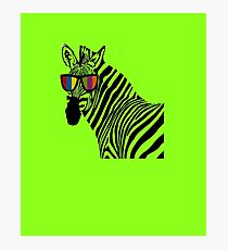 Funny Zebra With Sunglass Artwork Photographic Print