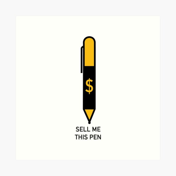 THIS PEN IS FOR SALE Art Print