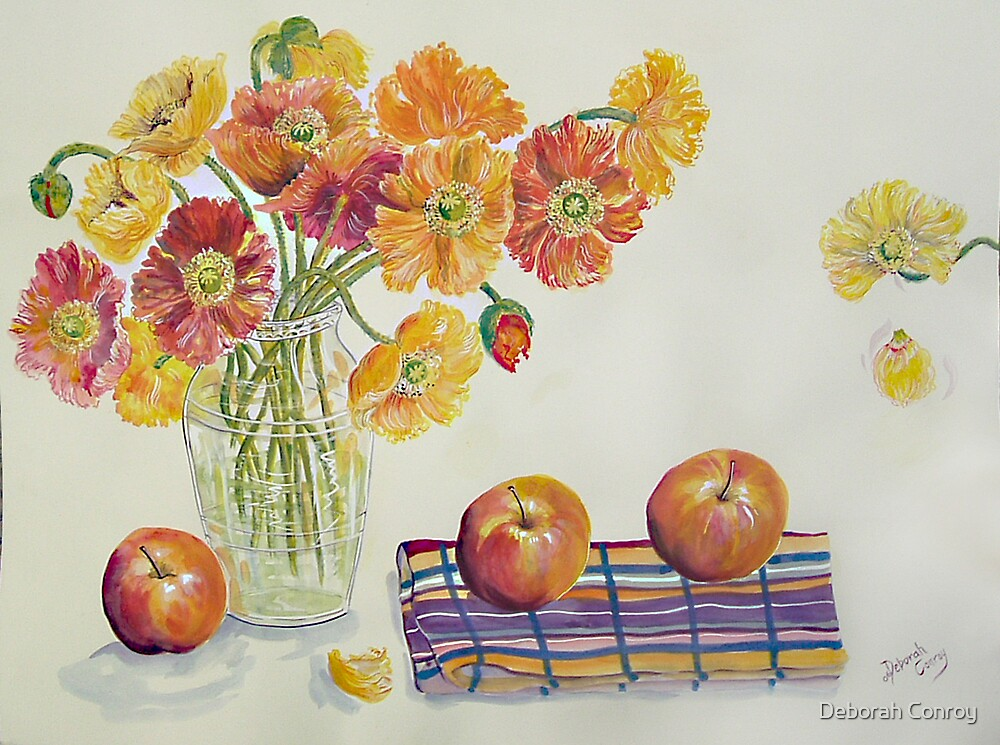Poppies and Apples by Deborah Conroy