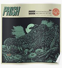PHISH POSTER July 21 2017 Madison Square Gareden, New York City, NY. USA August 06, 2017 Poster