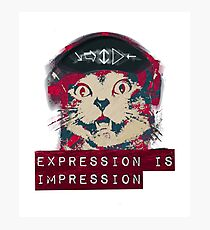 Rock Steady Kitty Cat ; Expression is Impression  Photographic Print