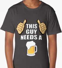 This guy needs a beer Long T-Shirt