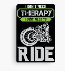 Motorcacle Therapy Canvas Print