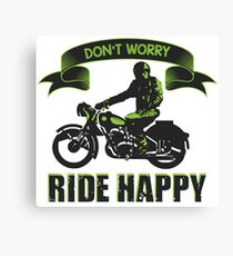 Ride happy Canvas Print