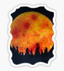 FIERY FULL MOON  Sticker