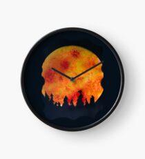 FIERY FULL MOON  Clock