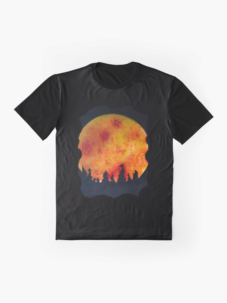 Alternate view of FIERY FULL MOON  Graphic T-Shirt