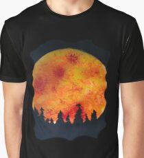 FIERY FULL MOON  Graphic T-Shirt