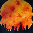 FIERY FULL MOON  by Nicola Furlong