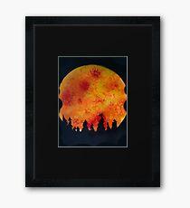 FIERY FULL MOON  Framed Print