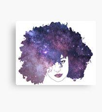 Galaxy Hair Canvas Print
