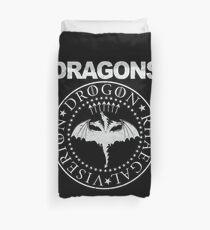Dragons, Game of Thrones Viserion, Drogon, Rhaegal logo Duvet Cover