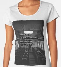Encrypt like everyone is watching (B&W BG) Women's Premium T-Shirt