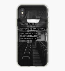 Encrypt like everyone is watching (B&W BG) iPhone Case