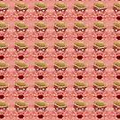 Goofy Face Pattern Duvet by Scott Mitchell