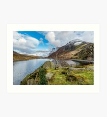Lake Ogwen and Tryfan Mountain Art Print