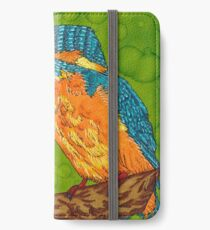 Kingfisher painted with layout markers iPhone Wallet/Case/Skin