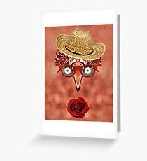 Goofy Face Pattern Duvet Greeting Card