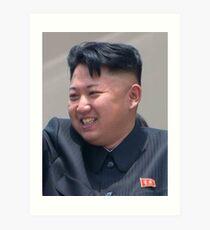 Kim Jong Un Art Print
