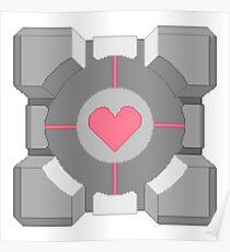8-Bit Companion Cube Poster