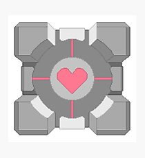 8-Bit Companion Cube Photographic Print