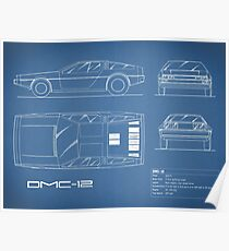 The DMC-12 Blueprint Poster