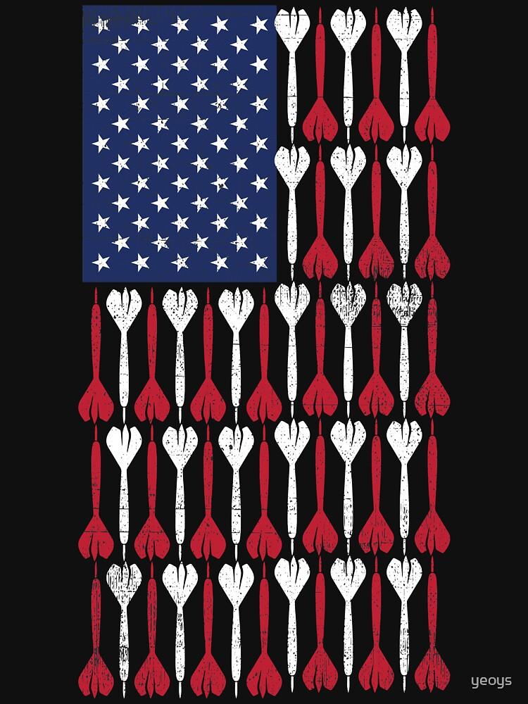 Vintage Flag > US Flag Made of Darts > Bullseye by yeoys