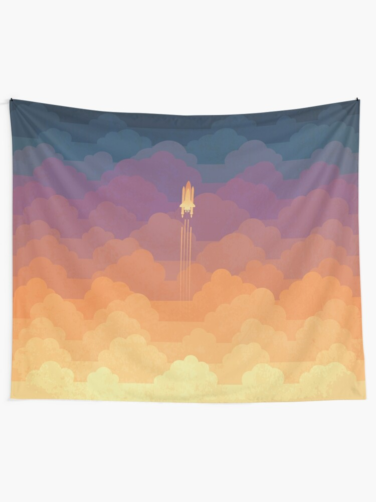 Alternate view of Clouds Tapestry