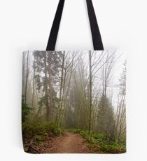 Trail Through a Misty Forest Tote Bag