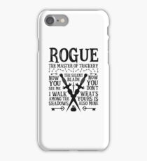 ROGUE, The Master of Trickery - Dungeons & Dragons (Black Text) iPhone Case/Skin