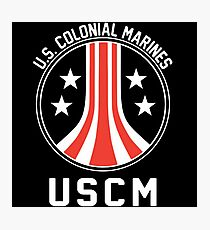 USCM US Colonial Marines T-Shirt Photographic Print