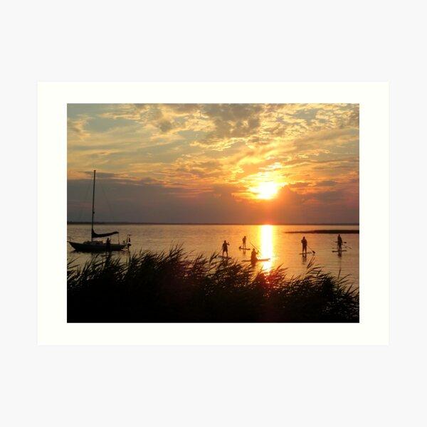 Drifting Into Sunset Art Print