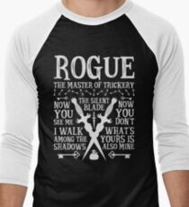 ROGUE, The Master of Trickery - Dungeons & Dragons (White Text) T-Shirt