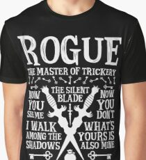 ROGUE, The Master of Trickery - Dungeons & Dragons (White Text) Graphic T-Shirt
