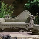 Chaise Longue In The Garden by lezvee