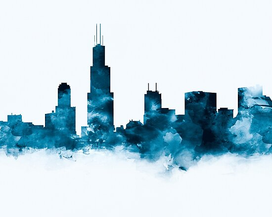 Chicago Skyline by MonnPrint