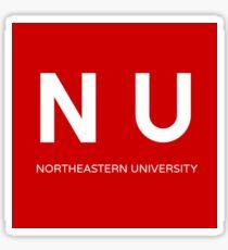 Square Northeastern University Sticker
