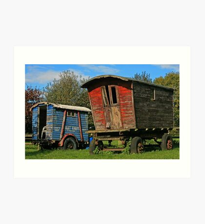 Wagons Roll ... Art Print