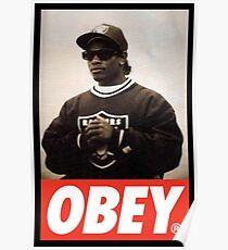EAZY E OBEY DESIGN Poster