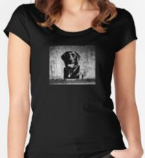 Black Labrador Women's Fitted Scoop T-Shirt