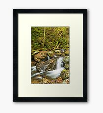 Small Water Fall in Autumn Framed Print
