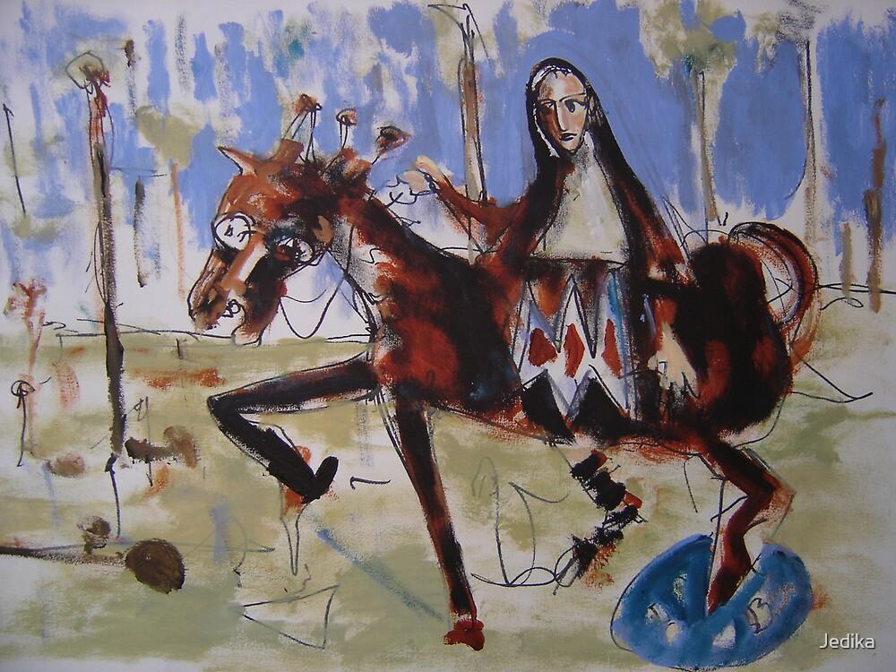 MacKillop Riding through the Bushlands by Jedika