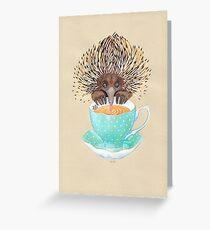 Animal Echidna tea Greeting Card