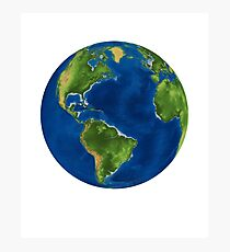 Planet Earth Outer Space Continents Ocean Satellite Astronomy Photographic Print