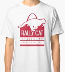 Rally Cat St Louis Baseball White And Red Classic T-Shirt
